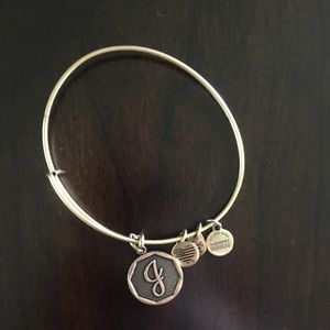 J charm Alex and Ani bangle